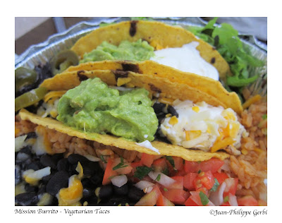 Image of Vegetarian tacos from Hoboken Burrito aka Mission Burrito in Hoboken NJ, New Jersey