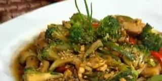 Receta Pollo con verduras bañado en Salsa