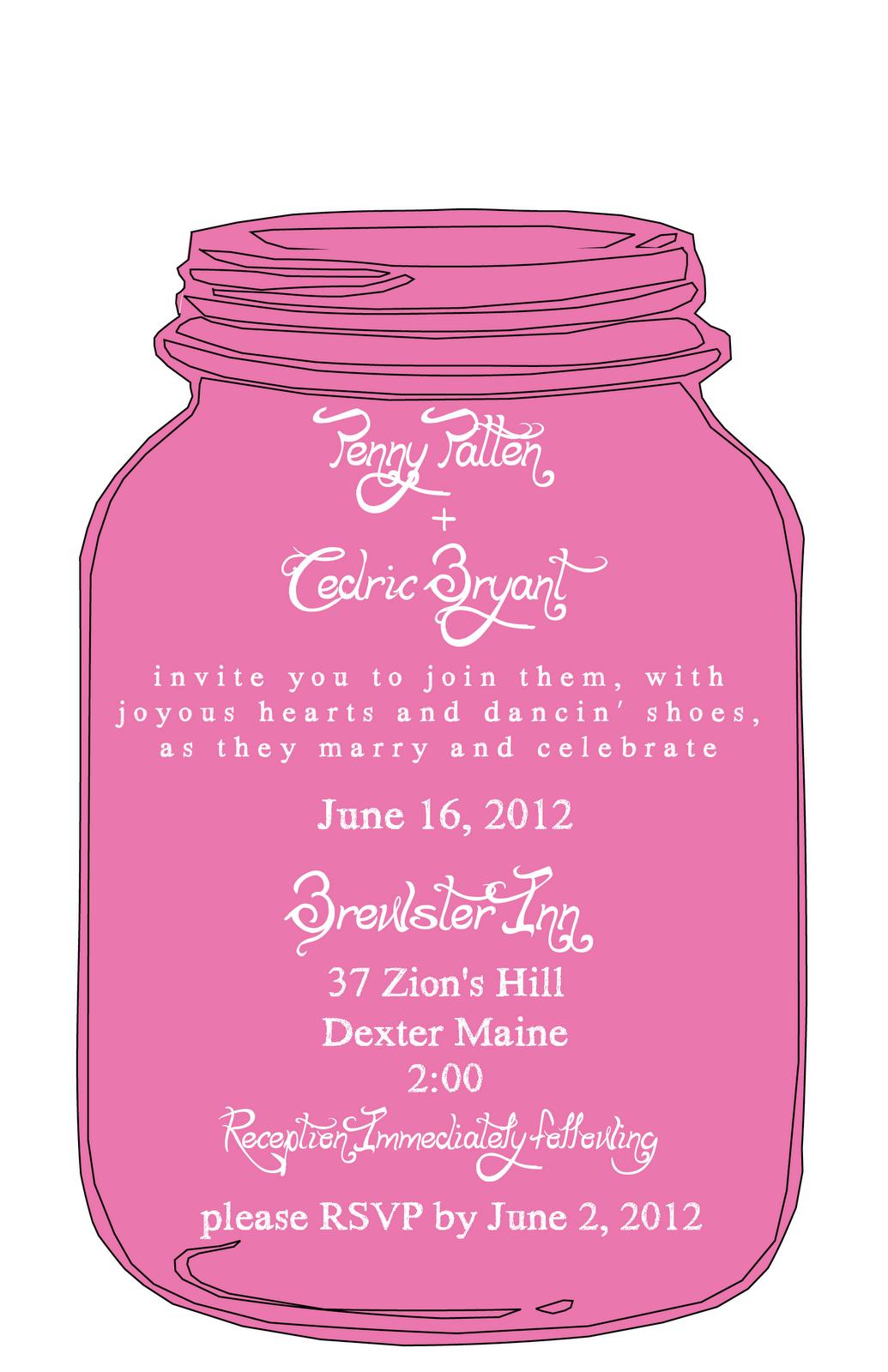 Mason Jar Invitation Templates Free