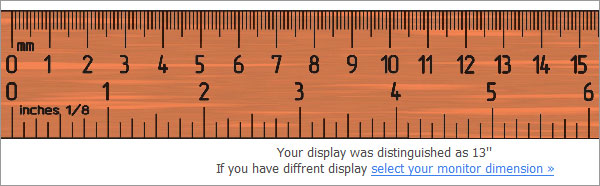 Online Ruler Inches Actual Size Picture