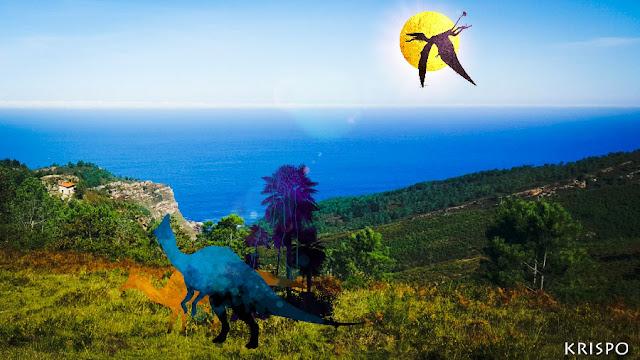 varios dinosaurios en Jaizkibel en hondarribia