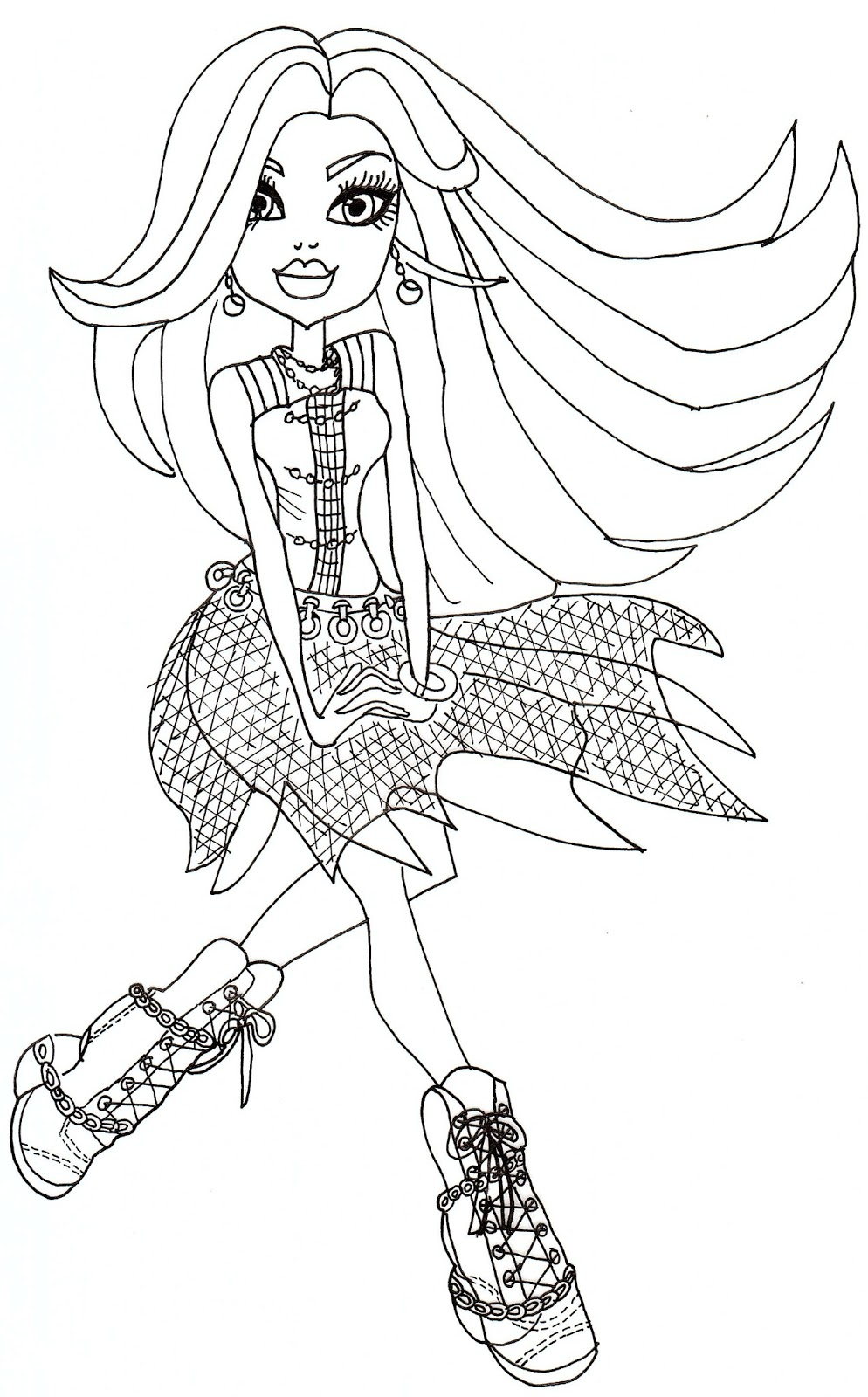 Free coloring pages for june - Floating Spectra Coloring Page