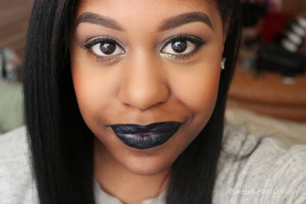navy blue sabbath lips makeup look for everyone