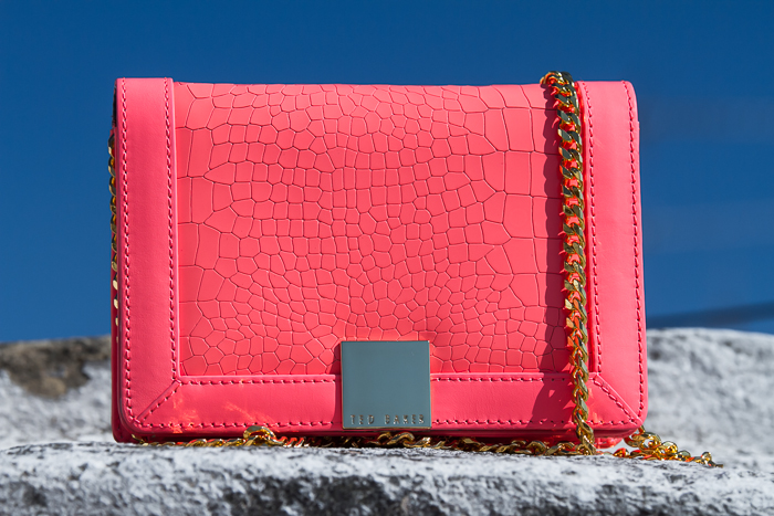 Mini Exotic leather Clutch Bag: Ruelles Style by Ted Baker