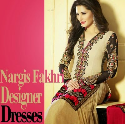 Nargis Fakhri Looks in Long Frock