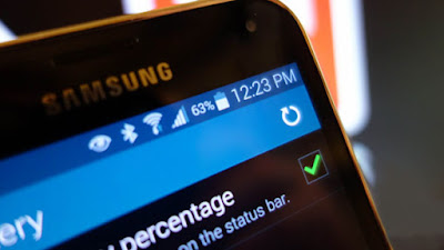 Android Marshmallow battery persentage