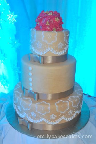 A Contemporary Brown Wedding Cake Posted by Dominique Gerald Cimafranca at