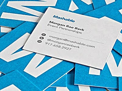 Best Business Cards example For Websites mashable tech blog