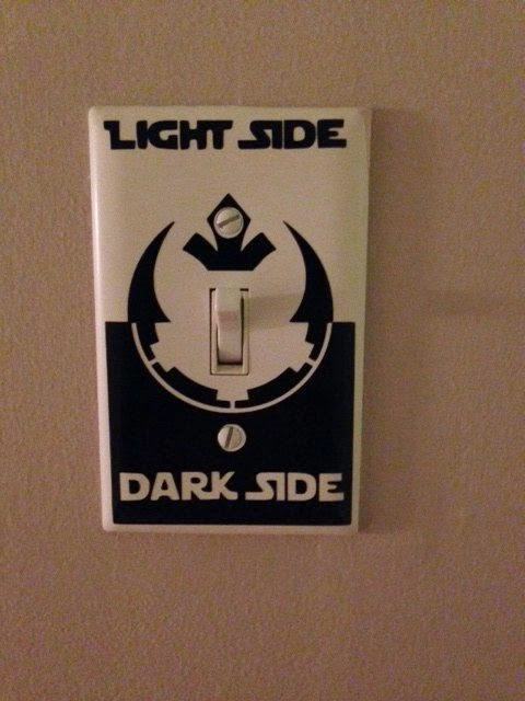 Xing Fu Star Wars Light Switch Decal Featuring Rebel Alliance And