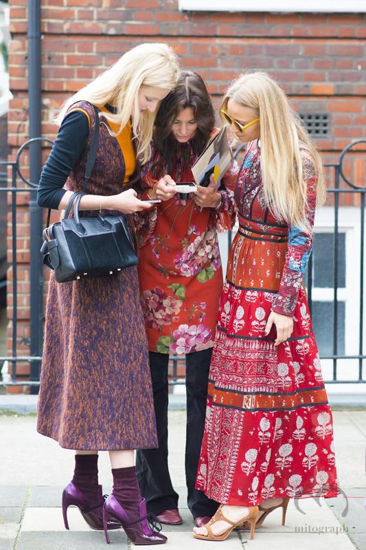 Candice Lake and Hedvig Opshaug and Martha Ward at London Fashion Week 2016 Spring Summer LFW
