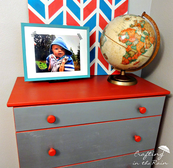 Red and Metal Dresser Makeover. Red and Metal Dresser Makeover   Crafting in the Rain