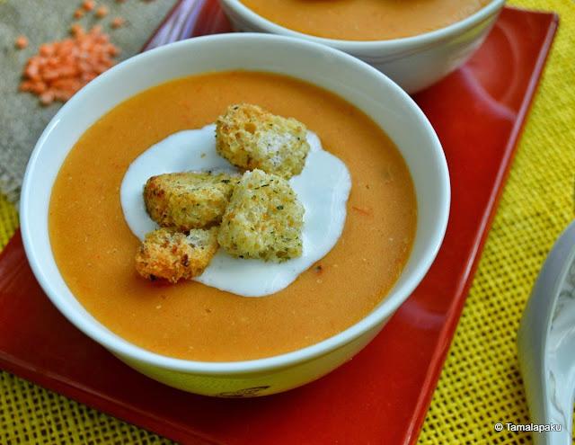 Masoor Dal Soup ~ Red Lentil Soup