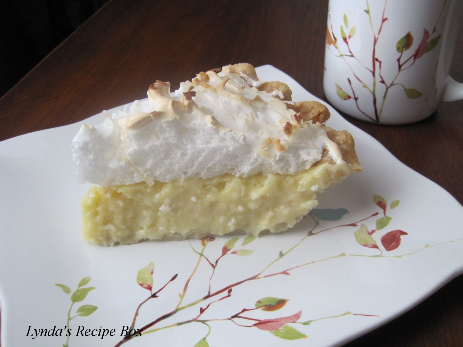 Lynda's Recipe Box: Classic Coconut Cream Pie
