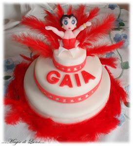Torta Betty Boop piumata