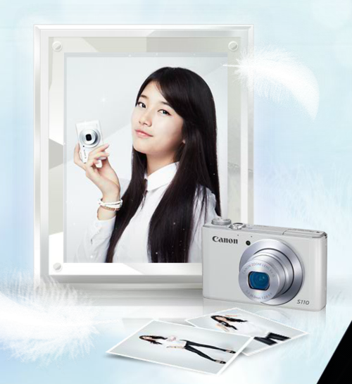 "Bae Suzy ""Canon PowerShoot S110"""