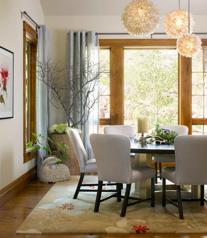 Ruang Makan Gaya Rustik 4