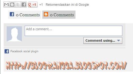 kotak komentar facebook di samping kotak komentar blog | BLOG RANGGA