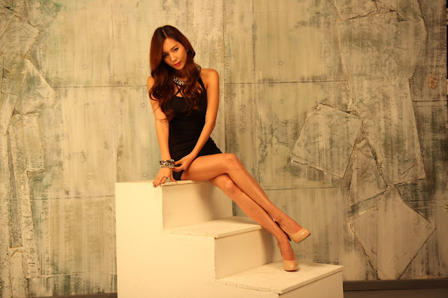 Lee Ji Min Lovely in Black Dress