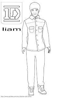 one direction liam coloring pages