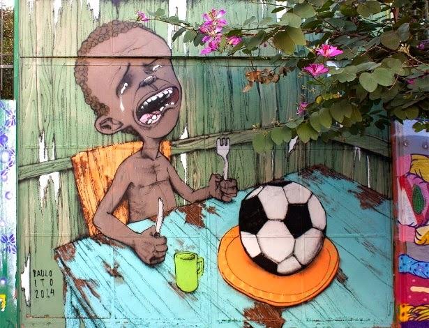 """Grafiteiro que critica miséria diz que Copa """"escancara"""" problemas do Brasil"""