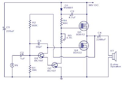10 Watts Mosfet Audio Amplifier