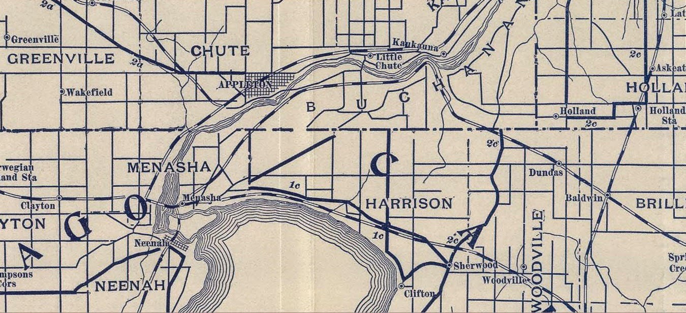 this 1897 map is a portion of one of 12 maps showing the best bicycle routes in the state of wisconsin the league of american wheelmen l a w published