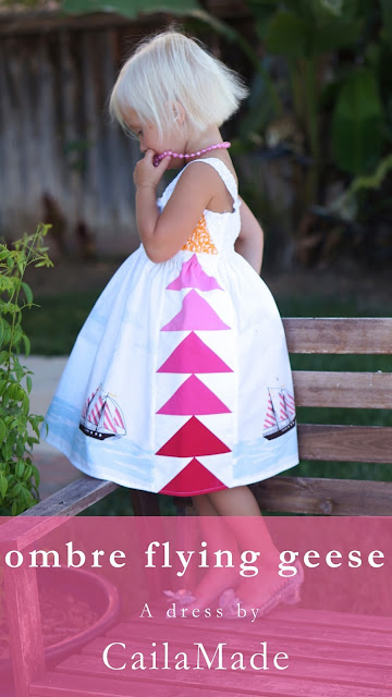 flying geese dress sewing tutorial
