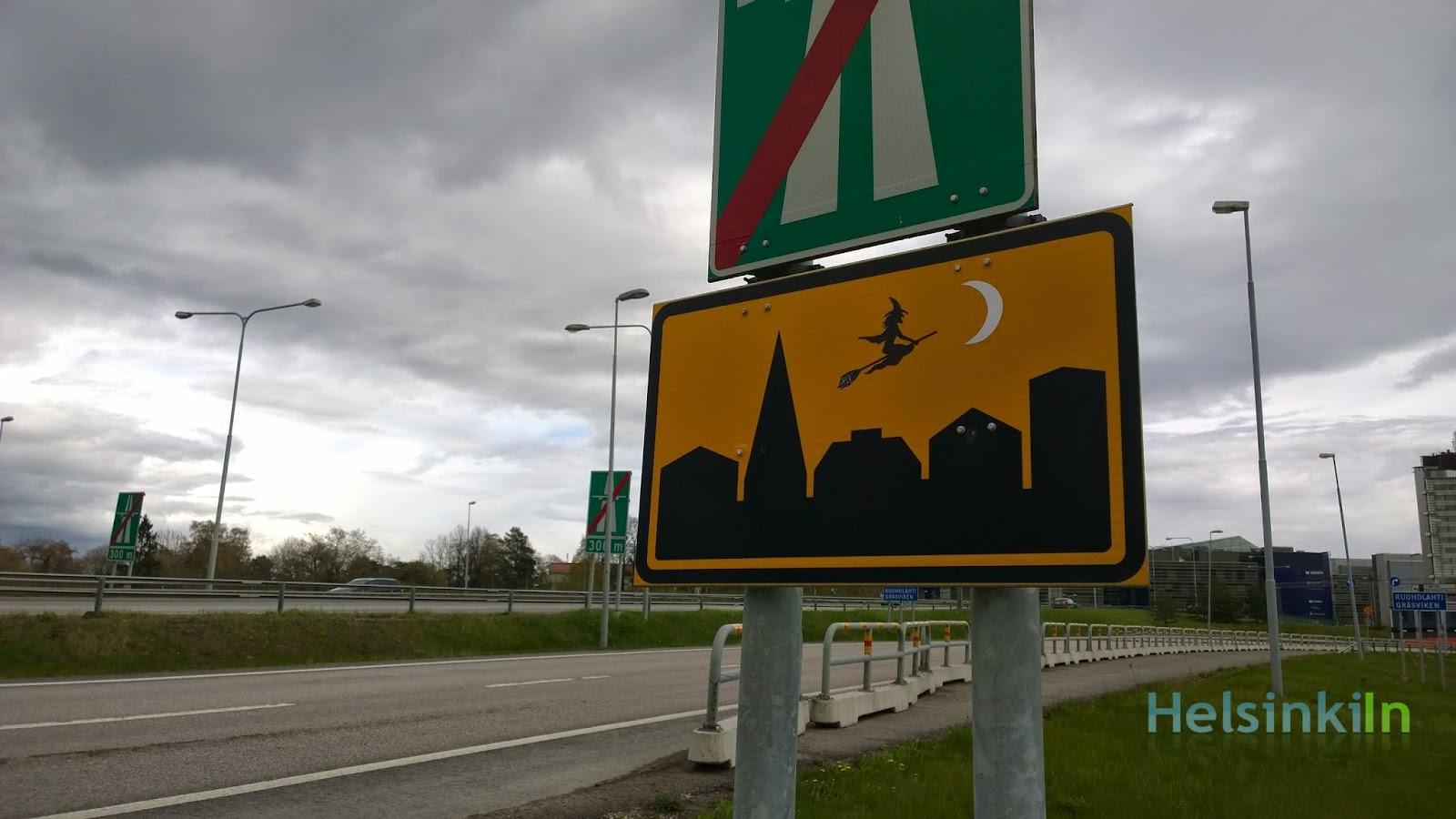 Sign at Salmisaari