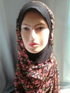 jilbab pasmina instan
