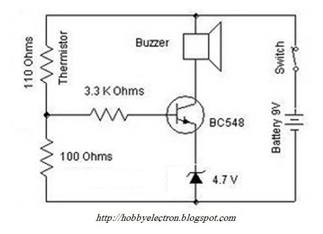 thermistor temperature thermostat schematic  thermistor