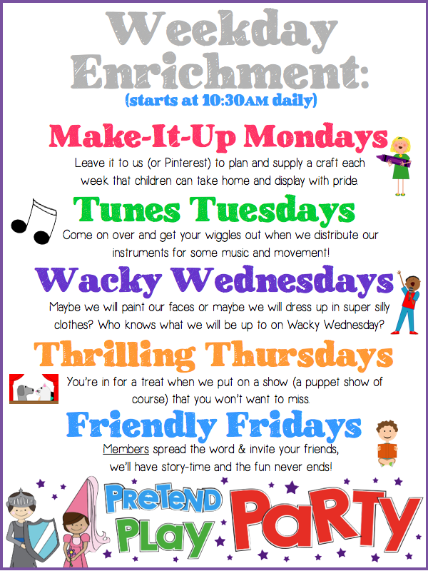 Click on the image below for more information on weekday enrichment!