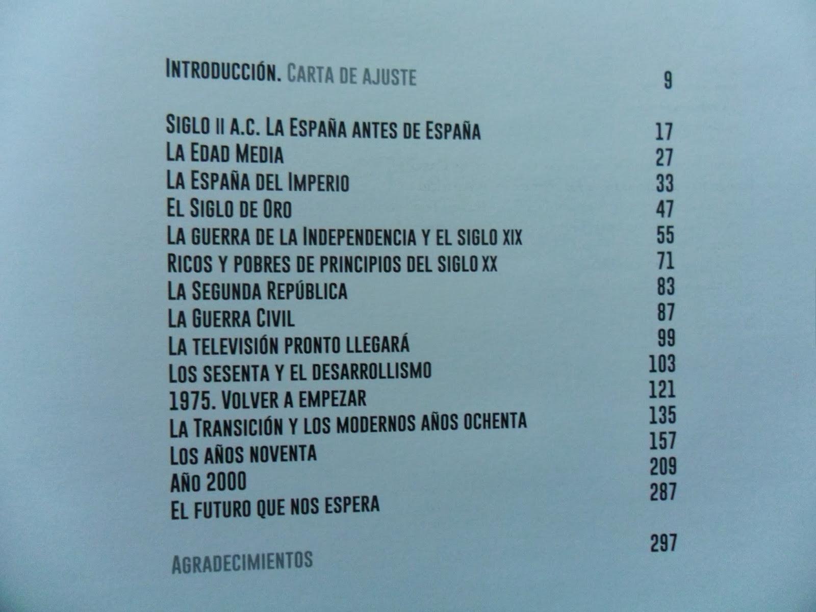 Relación ordenada por la cronología de ambientación de las series españolas