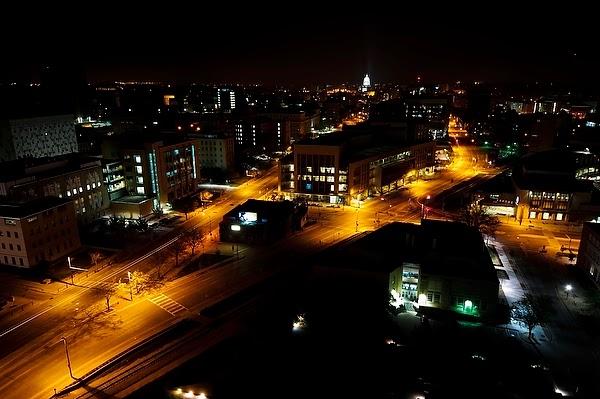 Downtown Madison Wisconsin Night