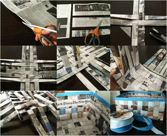 Cosas para casa con papel de regalo reciclado por Recicla Inventa