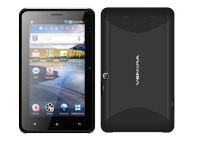 Venera Cloud Tab 6, Spesifikasi, Harga Tablet Android ICS, Dual SIM, Bisa Telpon SMS, Prosesor 1 GHz, Baterai Tahan Lama