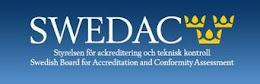 Registrerad hos SWEDAC