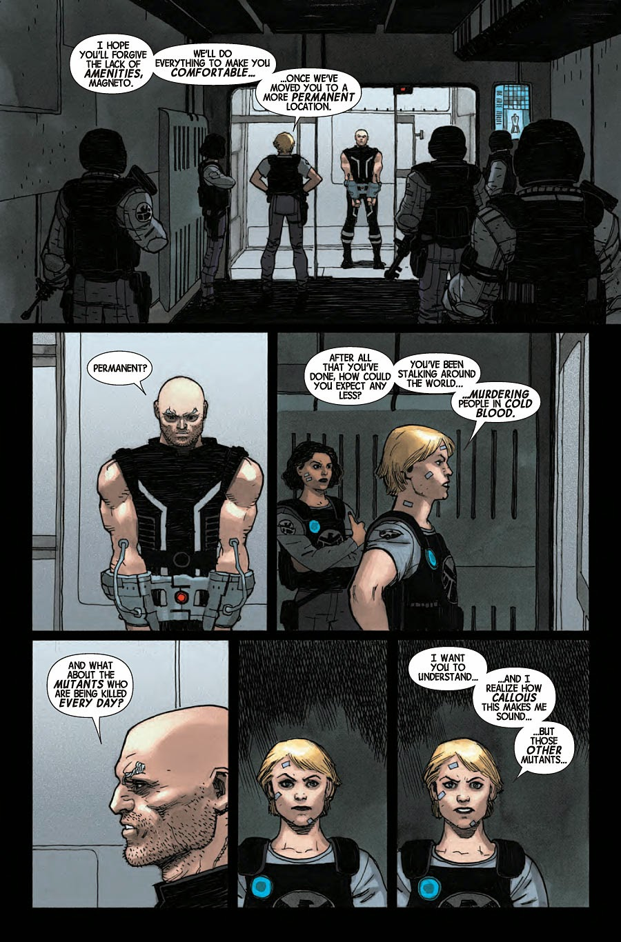 Agent Haines interrogates Magneto