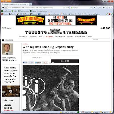 Screen shot of http://www.torontostandard.com/business/with-big-data-come-big-responsibility.