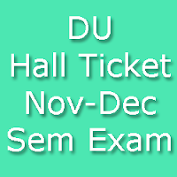 DU Exam Admit Card for Nov Dec 2015 Exam