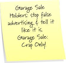 Garage Sale Sticky Note Saturday