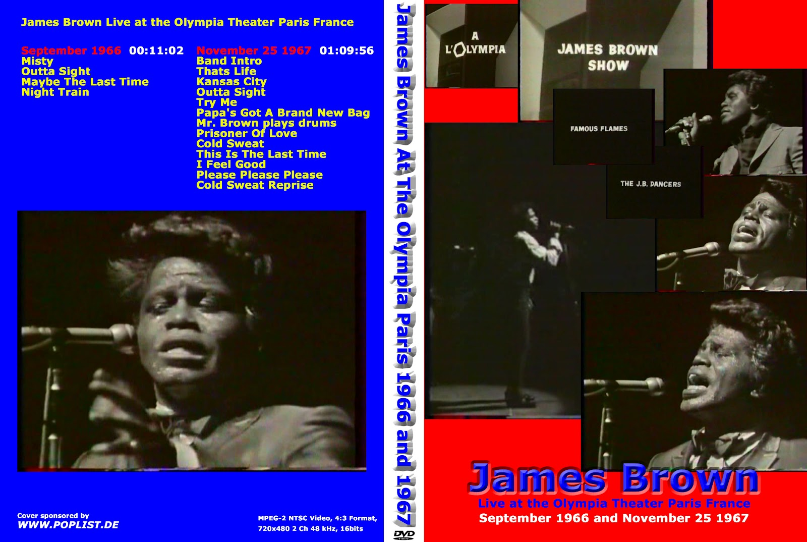 T.U.B.E.: James Brown and the Famous Flames, Olympia ...