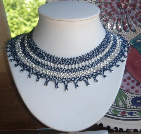 pattern bijoux collier netting argente. Black Bedroom Furniture Sets. Home Design Ideas