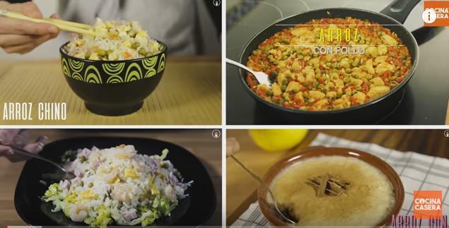 4 Recetas fáciles de arroz