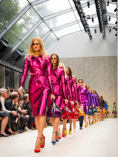 burbery+trench+rainbow+LFW London Fashion Week: Burberry Shows Corsets and Capes in an incredible Fashion Show