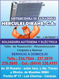 DISTRIBUIDORA DE RADIADORES HERCULES DIRAHE, C.A. en Paginas Amarillas tu guia Comercial