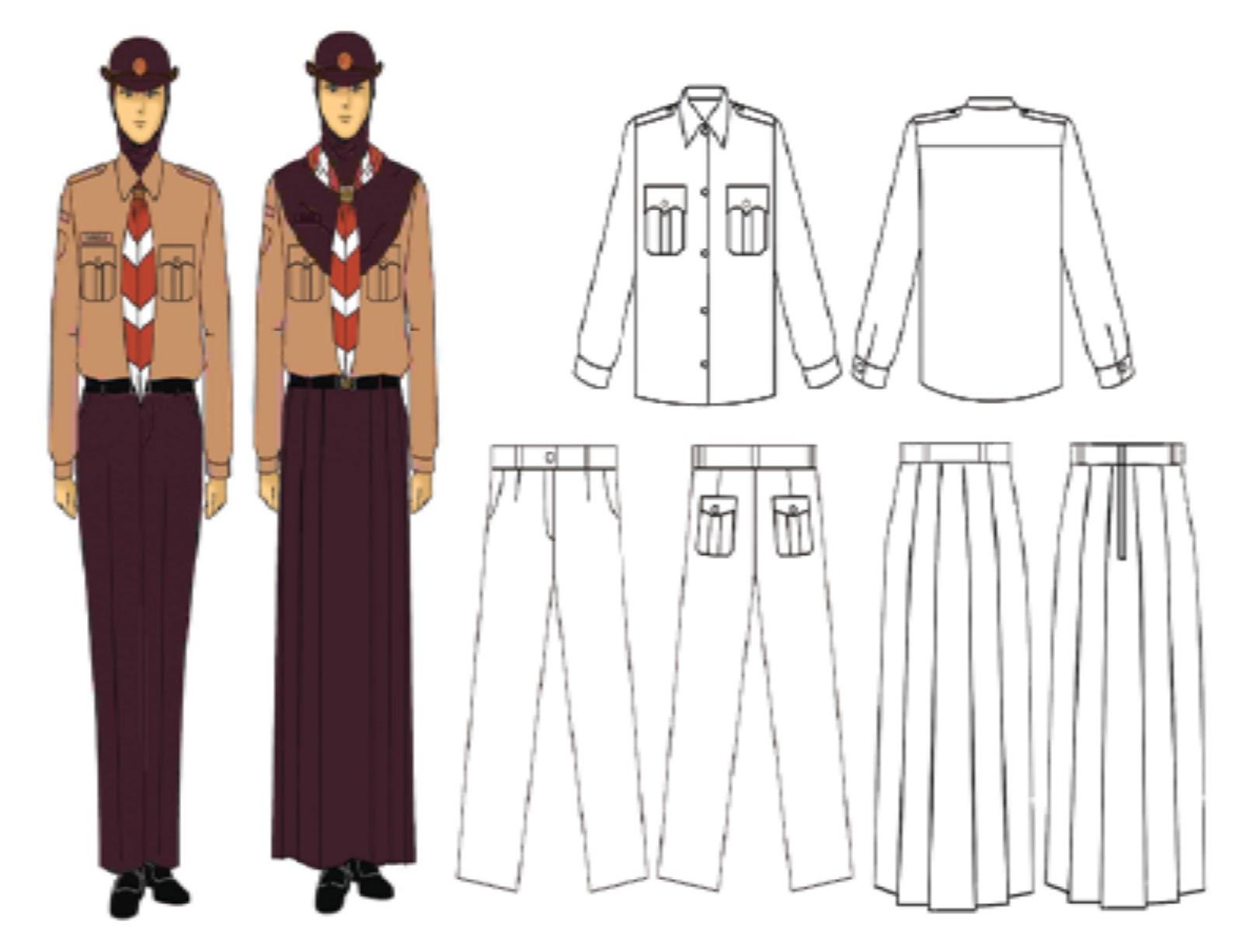 Model seragam untuk penggalang putri muslim