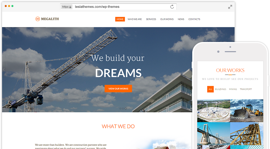 Free Download Megalith – Construction WordPress Theme Premium ...