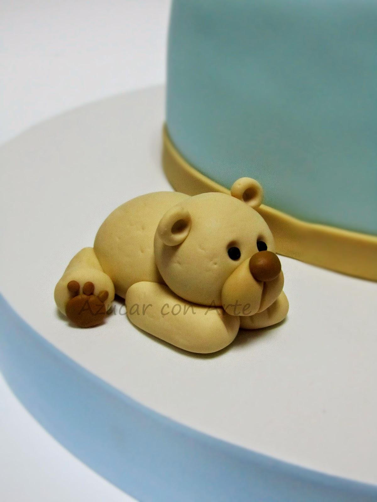 fondant bear | azucar con arte