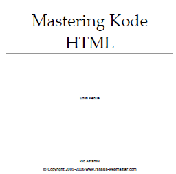 Mastering Kode HTML