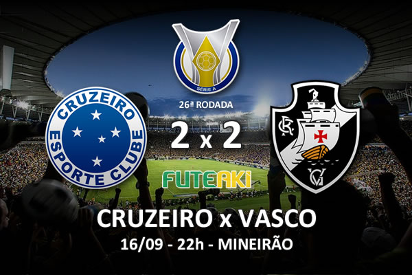 Veja o resumo da partida com os gols e os melhores momentos de Cruzeiro 2x2 Vasco pela 26ª rodada do Brasileirão 2015.